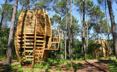 Aquitaine : week-end insolite 2j/1n en cabane perchée + petit-déjeuner
