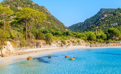 Corse printemps/été : 8j/7n maison 6 pers. + piscine<br>à 500m de la mer