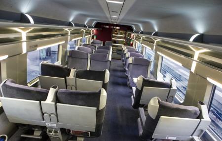 Le train pour la Suisse c'est pratique !