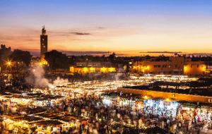 Vols A/R de Lyon vers Marrakech
