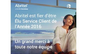 Abritel élu service client de l'année 2016