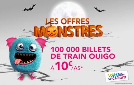 OUIGO : 100 000 billets de train à 10 € A/S pour cet automne !