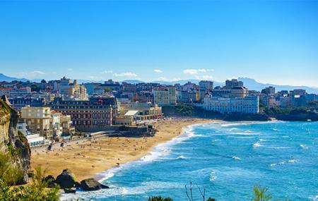 Biarritz, été : enchères, week-end 5j/4n en hôtel avec vue sur les Pyrénées