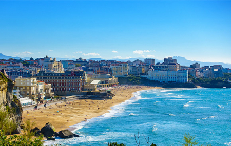Biarritz : week-end 2j/1n ou plus en hôtel très bien situé + petit-déjeuner
