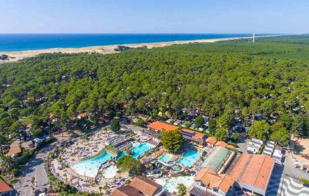 Landes : camping  5* 8j/7n en mobil-home + parc aquatique et spa, accès direct à la plage, - 29%