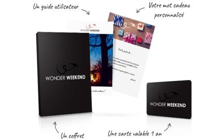 Wonderweekend : carte cadeau personnalisée à offrir, promo jusqu'à - 60 €