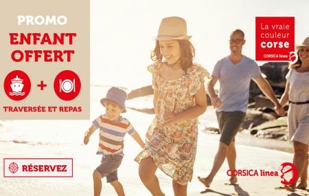 Ferry : Corse ↔ Marseille, traversée et menu enfant offerts pour les 4 à 11 ans