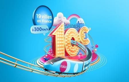 Train : OUIGO, billets à 10 € AS/pers. vers Paris, Nantes, Rennes