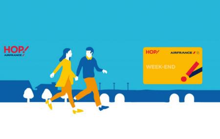 HOP! Air France: abonnement carte Week-end à 69 €/an