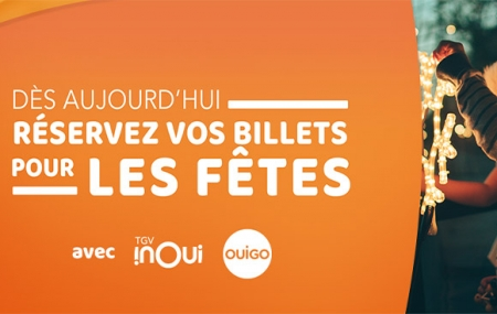 OUIGO, TGV INOUI, Intercités... : Ouverture des ventes pour Noël