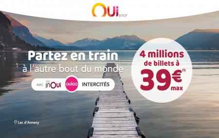 Train : 4 millions de billets à 39 € max A/S, TGV INOUI, OUIGO, INTERCITÉS
