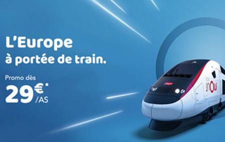 Europe : promos billets trains à grande vitesse dès 29 € A/S