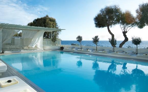 10 hôtels romantiques à Santorin - Kamari : chambre avec vue et plage privée