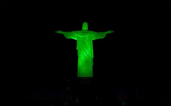 10 monuments aux couleurs de la Saint-Patrick - Le Christ rédempteur, Rio de Janeiro