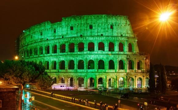 10 monuments aux couleurs de la Saint-Patrick - Le Colisée, Rome