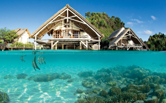 8 hôtels de rêve sur pilotis - Misool Eco Resort, Raja Ampat