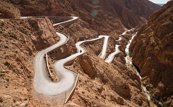 Les 10 plus belles routes au monde à faire en moto - Les gorges du Dadès, Maroc