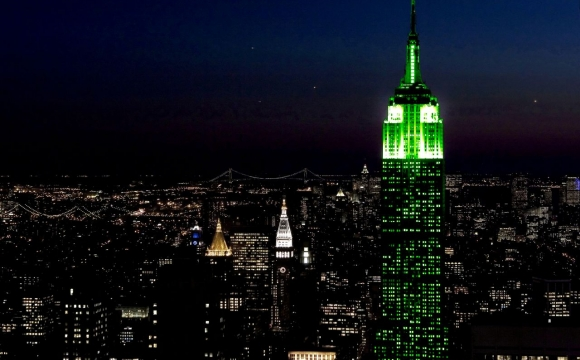10 monuments aux couleurs de la Saint-Patrick - l'Empire State Building, New-York