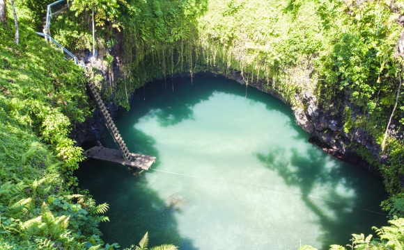 12 endroits pour nager dans l'eau turquoise - To Sua Ocean Trench, Upolu