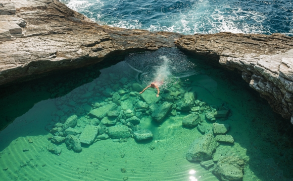 Les plus belles piscines naturelles - La laguna de Giola en Grèce