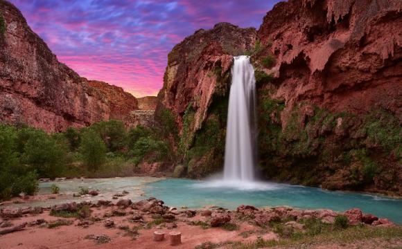 Les 15 plus beaux paysages des Etats-Unis - La chute d'eau Havasu Falls