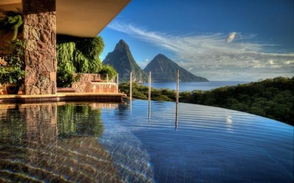 10 hôtels à tester au moins une fois dans sa vie  - Le Jade Mountain, Sainte-Lucie