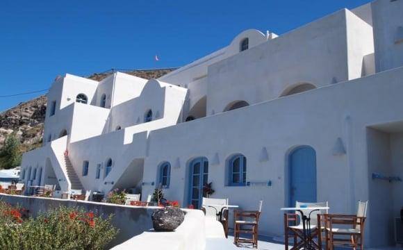 10 hôtels romantiques à Santorin - Les pieds dans l'eau à Akrotiri