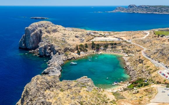 Les 10 plus belles plages de Méditerranée - Baie de Lindos, Rhodes