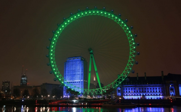 10 monuments aux couleurs de la Saint-Patrick - London Eye, Londres