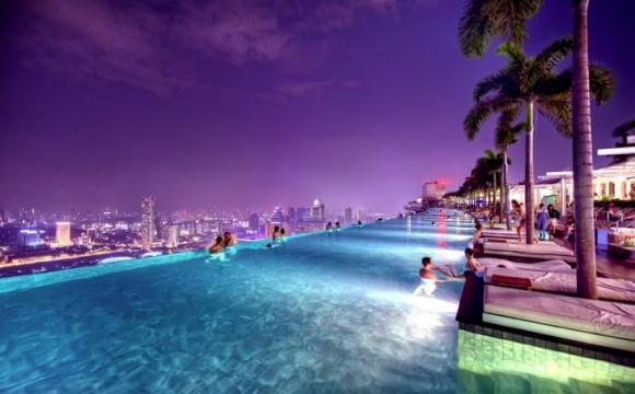 10 hôtels avec une piscine exceptionnelle - Marina Bay Sands, Singapour