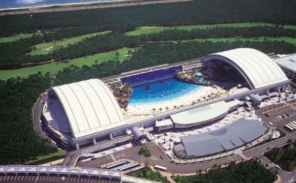 Les 10 plus grandes piscines du monde - Le Ocean Dome au Japon