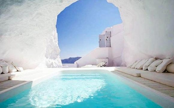 10 piscines de rêve vues sur Pinterest - Katikies Hotel, Santorin-Grèce