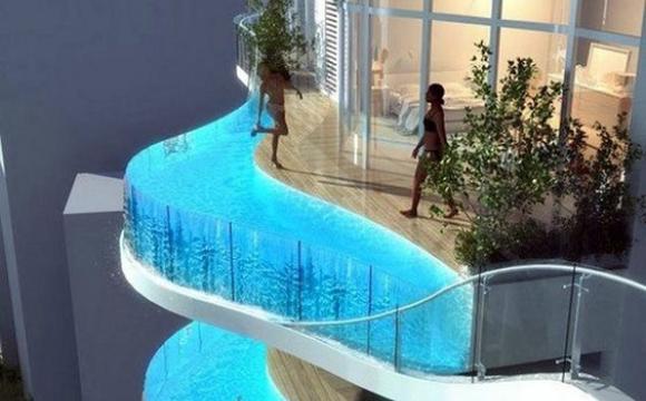 10 piscines de rêve vues sur Pinterest - Parinee Ism Tower by James Law Cybertecture