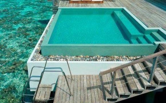 10 piscines de rêve vues sur Pinterest - Hôtel Dusit, Maldives