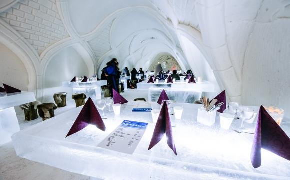 10 restaurants situés dans des endroits sensationnels - Le LumiLinna Snowcastle restaurant