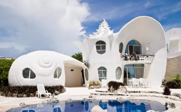 10 maisons les plus populaires de Airbnb - The Seashell House de Casa Caracol à Isla Mujeres au Mexique