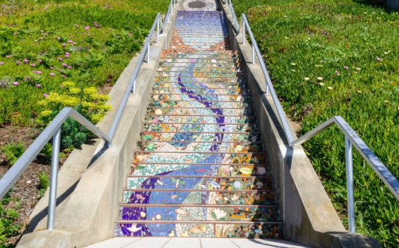 Les 15 plus belles marches du monde - Mosaïque colorée