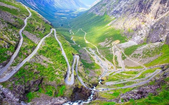 Les 10 plus belles routes au monde à faire en moto - La route Trollstigen, Norvège