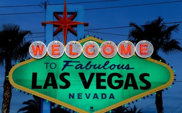 10 monuments aux couleurs de la Saint-Patrick - Le panneau d'accueil de Las Vegas