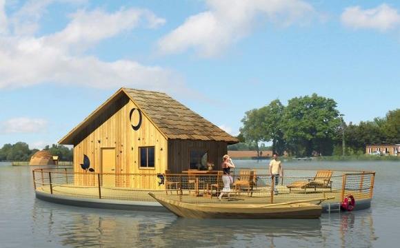 10 hôtels insolites en France - Le village flottant de Pressac